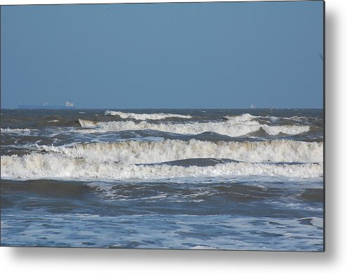 Metal Print featuring the photograph Waves by Courtney Miles