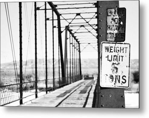 Bridges Metal Print featuring the photograph Weight Limit Shot by Eric Nielsen