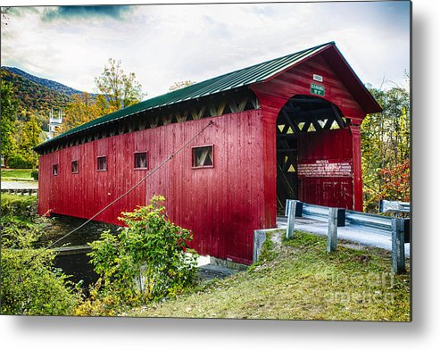 Battenkill River Metal Print featuring the photograph West Arlington Covered Bridge by George Oze