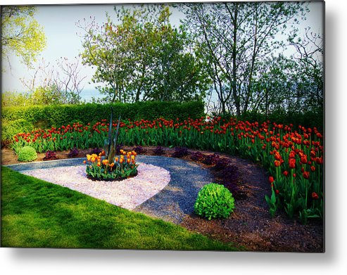 Collections By Carol Metal Print featuring the photograph West Of The Lake Gardens Manitowoc Wi by Carol Toepke