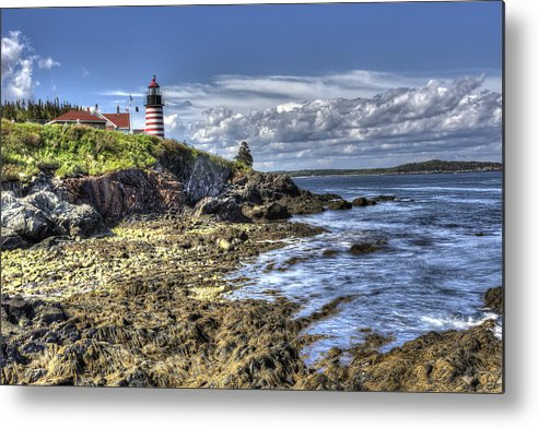 Lighthouse Metal Print featuring the photograph West Quoddy Lubec Maine Lighthouse by Shawn Everhart
