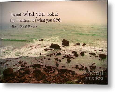 Inspirational Metal Print featuring the photograph What You See by Stella Levi