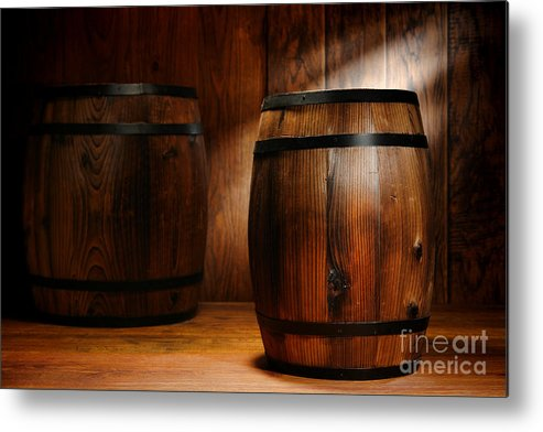 Barrel Metal Print featuring the photograph Whisky Barrel by Olivier Le Queinec