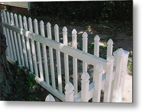 Provincetown Metal Print featuring the photograph White Fence Provincetown by Mike McCool