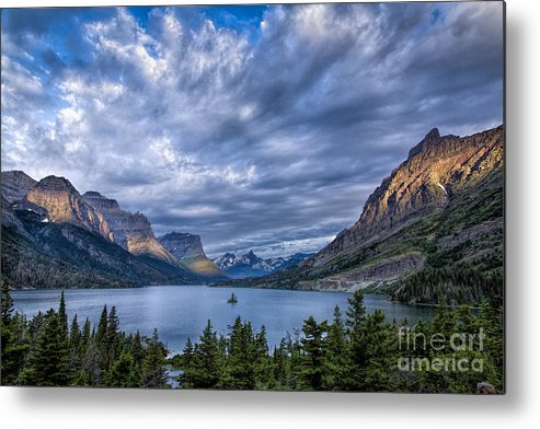 Glacier Metal Print featuring the photograph Wild Goose Island Glacier Park by Timothy Hacker