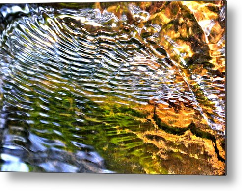 Water Metal Print featuring the photograph Wind Ripples by David Flitman