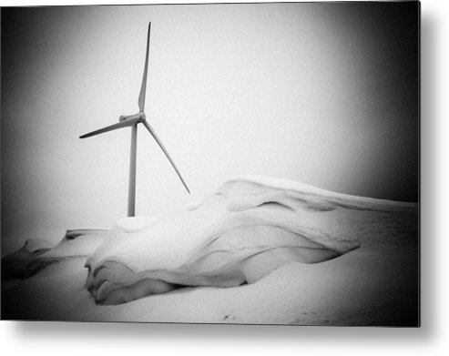 Landscapes Metal Print featuring the photograph Windmill At Winter by Raimond Klavins