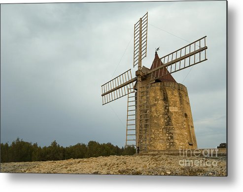 Windmill Metal Print featuring the photograph Windmill, France by John Shaw