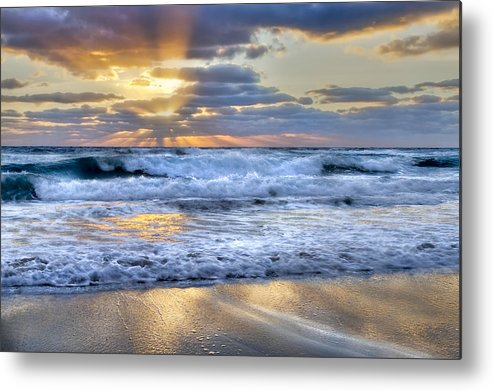 Clouds Metal Print featuring the photograph Window To Heaven by Debra and Dave Vanderlaan