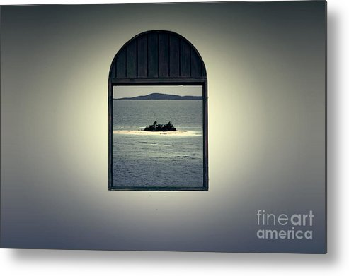 Puerto Rico Metal Print featuring the digital art Window View Of Desert Island Puerto Rico Prints Lomography by Shawn O'Brien