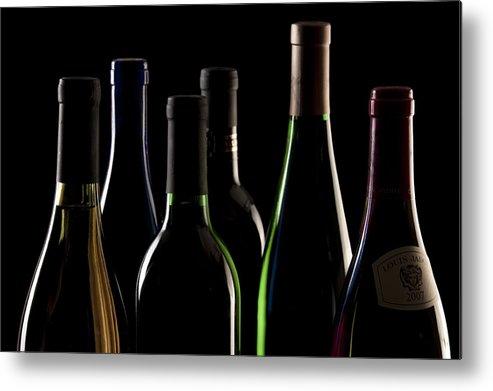 Wine Metal Print featuring the photograph Wine Bottles by Tom Mc Nemar