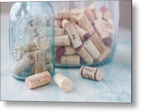 Wine Metal Print featuring the photograph Wine Cork Collection by Kay Pickens