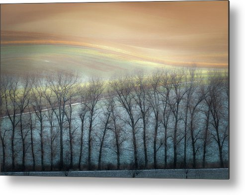 Alley Metal Print featuring the photograph Winter Alley by Marek Boguszak