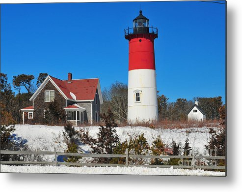 Find In Fine Art America Folder Metal Print featuring the photograph Winter At Nauset by Catherine Reusch Daley