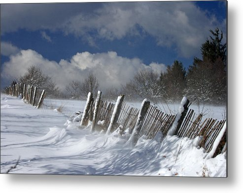 Snow Metal Print featuring the photograph Winter by Lepercq Veronique