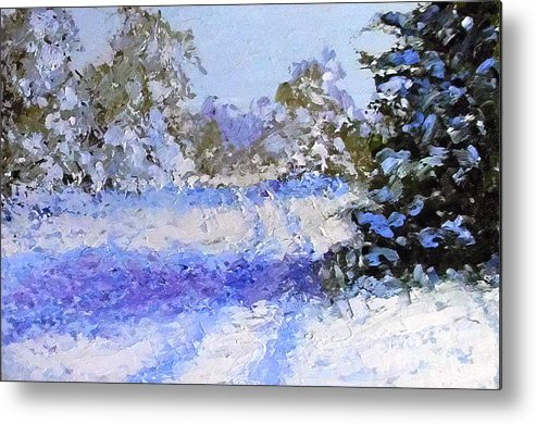 Landscape Metal Print featuring the painting Winter Morn by Fred Wilson