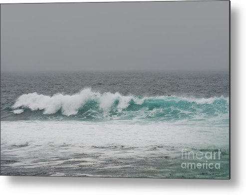Waves Metal Print featuring the photograph Winter Waves by Artist and Photographer Laura Wrede