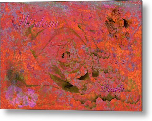 Digital Art Metal Print featuring the photograph Wisdom Pearls by Phyllis Denton