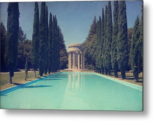 Pulgas Water Temple Metal Print featuring the photograph Worship by Laurie Search