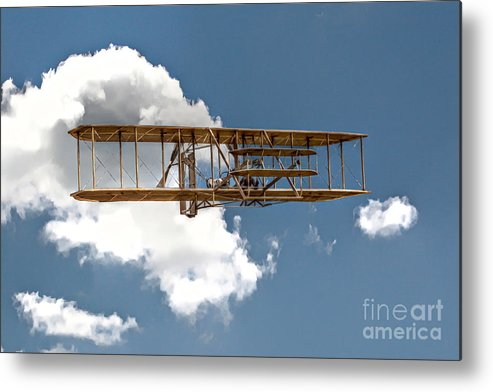 Wright Brothers Metal Print featuring the digital art Wright Brothers First Flight by Randy Steele