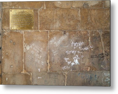 Graffiti Metal Print featuring the photograph Writing On The Wall by Michael Flood