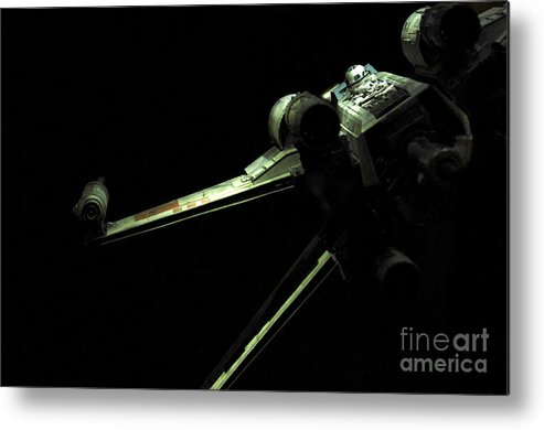 X-wing Metal Print featuring the photograph X-wing Fighter by Micah May
