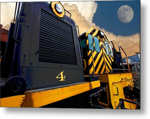 Diesel Locomotive Metal Print featuring the photograph Yard Goats by Mike Flynn