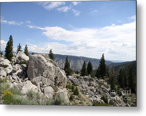 Yellowstone Landscape Metal Print featuring the photograph Yellowstone N P Landscape by Christiane Schulze Art And Photography