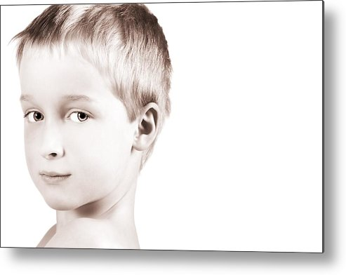 Children Metal Print featuring the photograph Young Boy by Chris and Kate Knorr