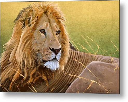 Lion Metal Print featuring the digital art Young Lion by Aaron Blaise
