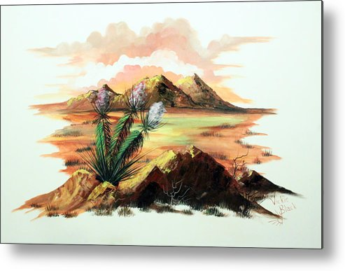 Yucca Metal Print featuring the painting Yucca by Vickie Black