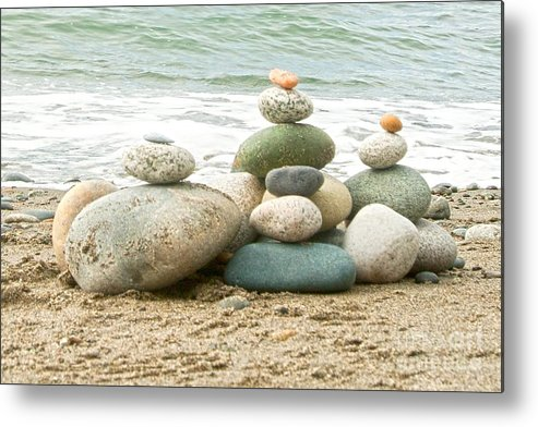 Rocks Metal Print featuring the photograph Zen Meditation Balance by Artist and Photographer Laura Wrede