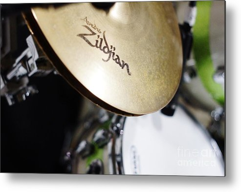 Cymbal Metal Print featuring the photograph Zildjian Hi-hat by Lynda Dawson-Youngclaus