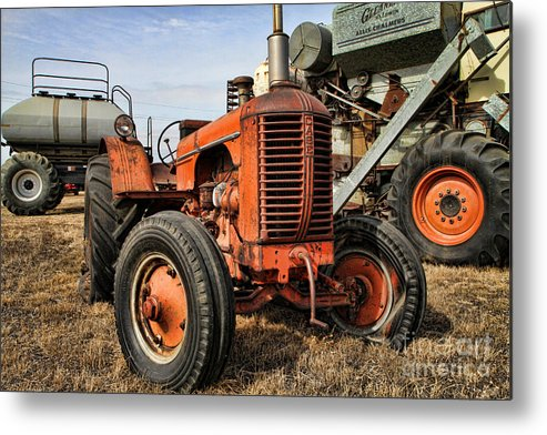 Tractors Metal Print featuring the photograph A Case Of Old Age by Edward R Wisell