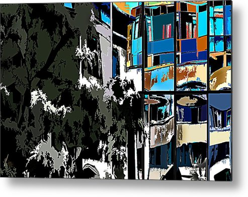 Abstract Metal Print featuring the photograph Abstract 24 by Burney Lieberman