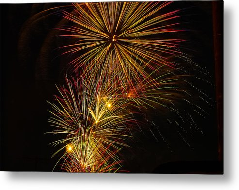 4th Of July Metal Print featuring the photograph American Pinwheel by Joshua Dwyer