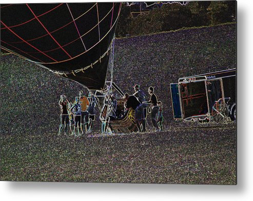 Balloons Metal Print featuring the photograph Balloon Dreamscape 7 by Rick Rauzi