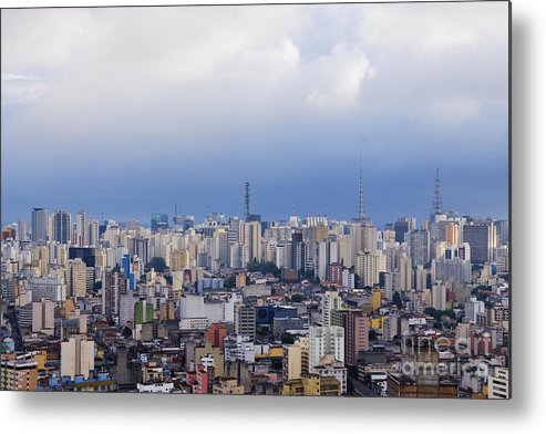 Apartment Metal Print featuring the photograph Buildings Of Downtown Sao Paulo by Jeremy Woodhouse