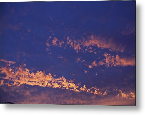 Cloud Metal Print featuring the photograph Clouds At Sunrise by Alan Sirulnikoff