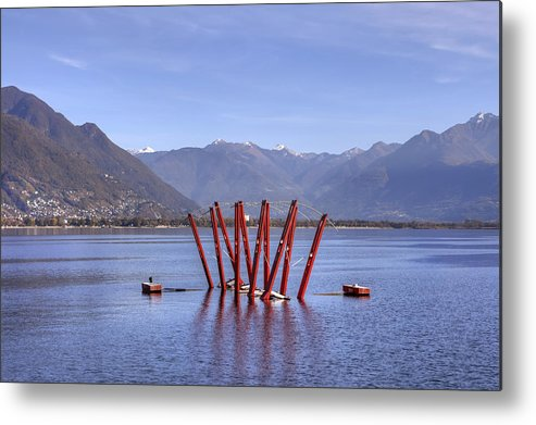 Locarno Metal Print featuring the photograph Lake Maggiore Locarno by Joana Kruse