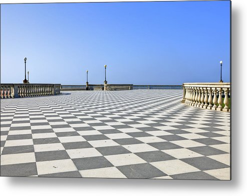 Livorno metal print featuring the photograph livorno terrazza mascagni by joana kruse