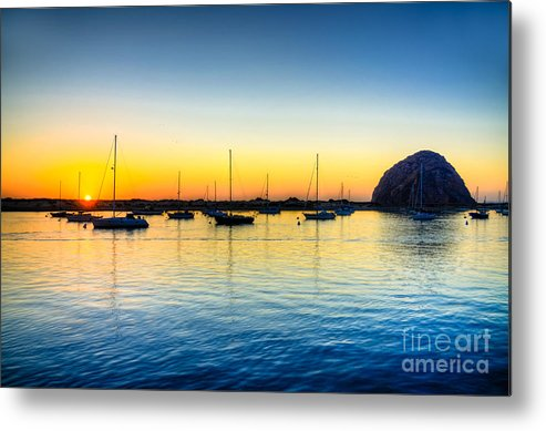Morro Bay Metal Print featuring the photograph Morro Bay Sunset by Kelly Wade