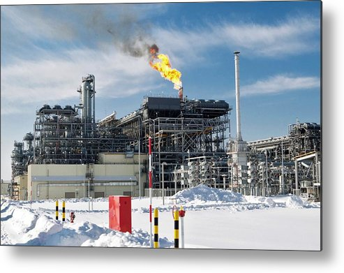 Natural Metal Print featuring the photograph Natural Gas Liquefaction Plant by Ria Novosti