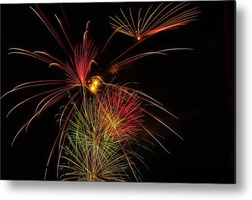 4th Of July Metal Print featuring the photograph Sky Flowers by Joshua Dwyer