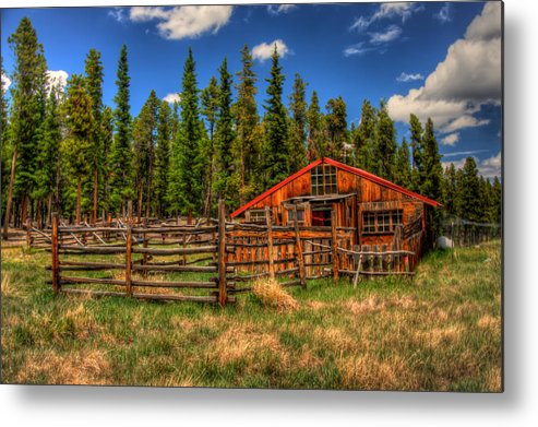 Landscape Metal Print featuring the photograph The Corral by Richard Saxon