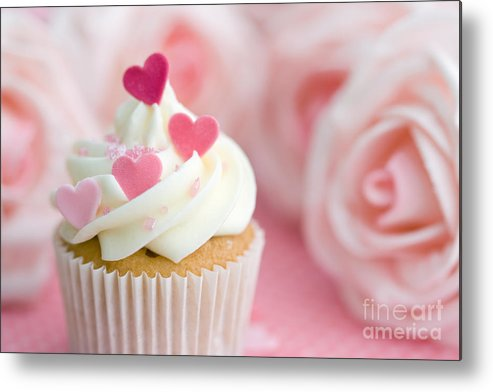 Cupcake Metal Print featuring the photograph Valentine Cupcake by Ruth Black