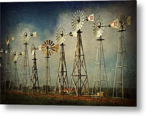 Windmill Metal Print featuring the photograph Windmill Soldiers by Terry Hollensworth-Rutledge