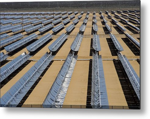 Solar Energy Generating Metal Print featuring the photograph Solar Power Plant, California, Usa by David Nunuk