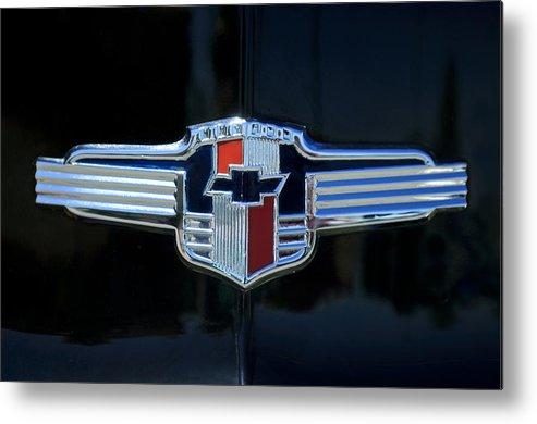 1942 Chevrolet Emblem Metal Print By Jill Reger