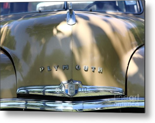 Transportation Metal Print featuring the photograph 1949 Plymouth Delux Sedan . 5d16206 by Wingsdomain Art and Photography
